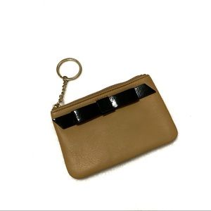 Kate Spade Brown Coin Wallet with Black Bow